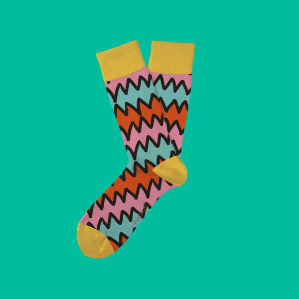 Gula strumpor med mönster!