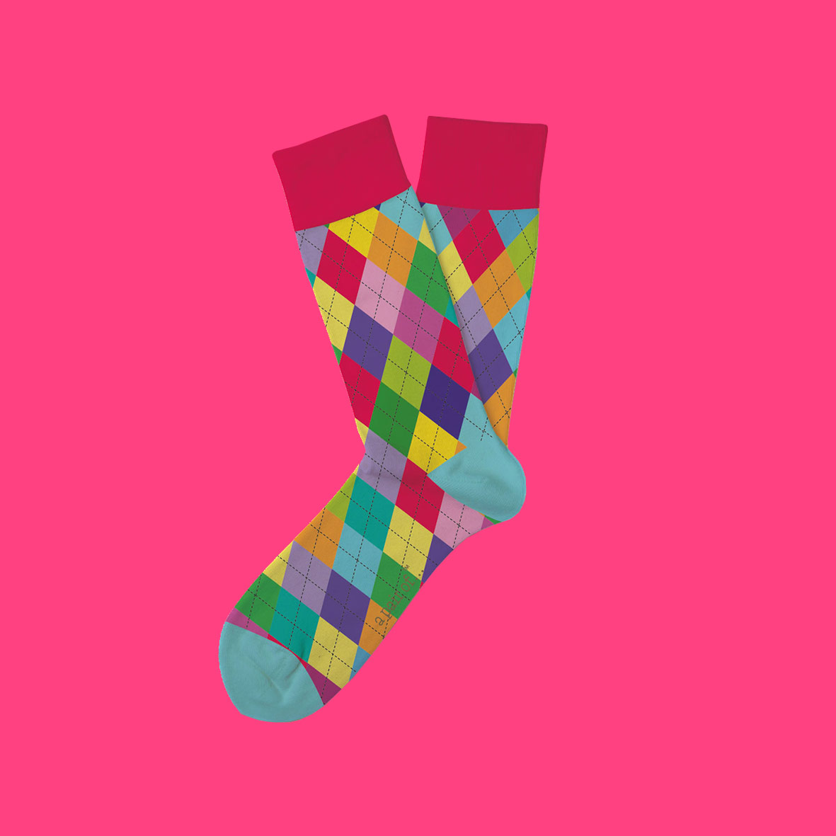 Rutiga strumpor i alla färger!