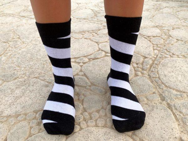 cool socks black stripe sock