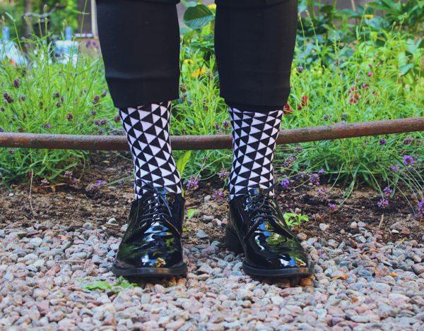 cool socks black triangle sock