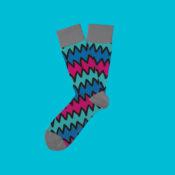 Grå strumpor med mönster!