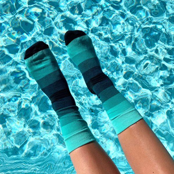 green stripe sock cool socks