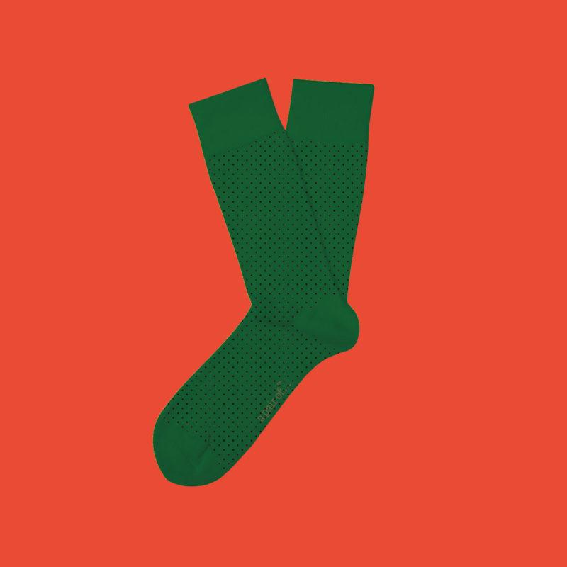 Gröna strumpor med prickar!