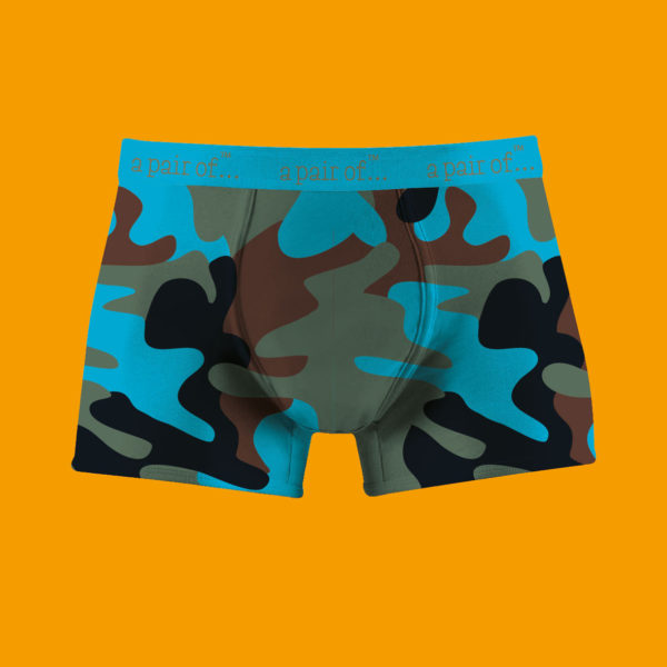 Kalsonger i blå camouflage!