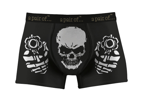 Kalsonger med döskalle och pistoler!
