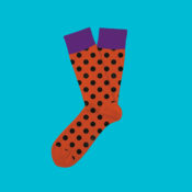 Orange strumpor med svarta prickar! prenumeration