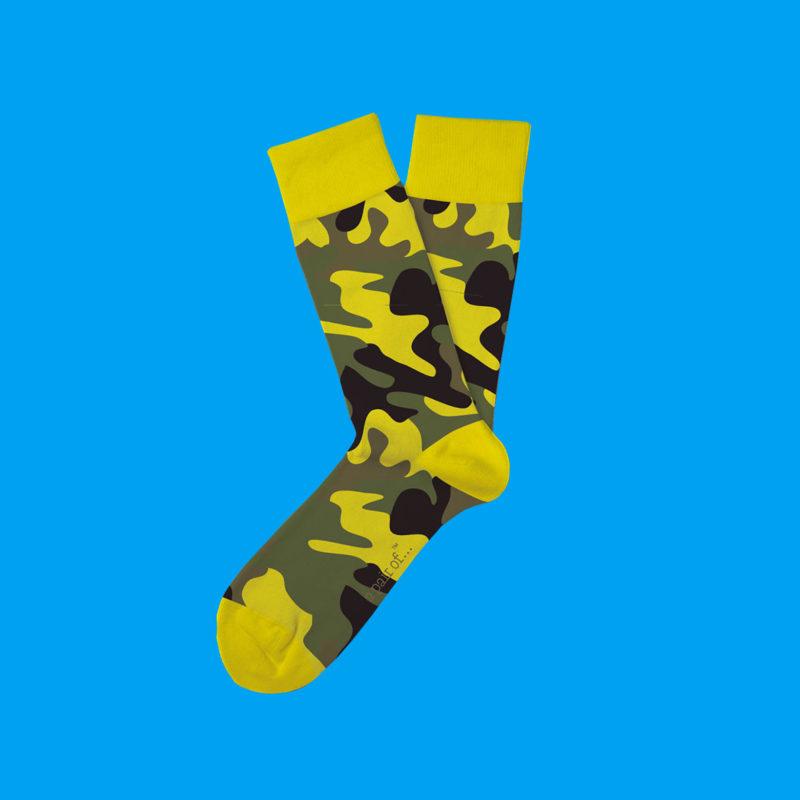 Strumpor i gul camouflage!