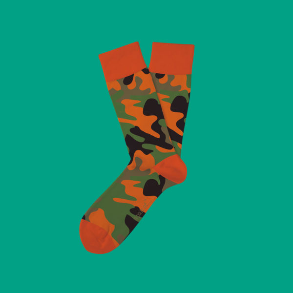 Strumpor i orange camouflage!