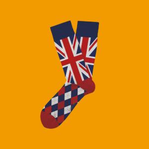 Strumpor med engelska flaggan!