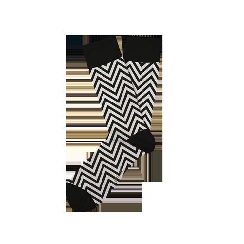 Strumpor med svartvitt mönster!