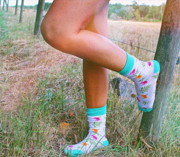 cool socks summer flower sock