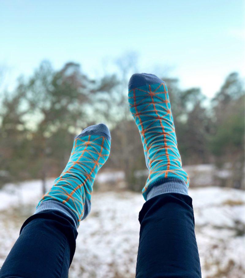 cool socks turquoise spider sock