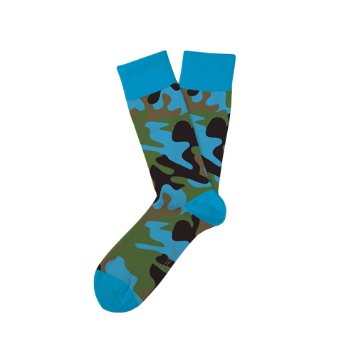 Blå camouflagestrumpor!