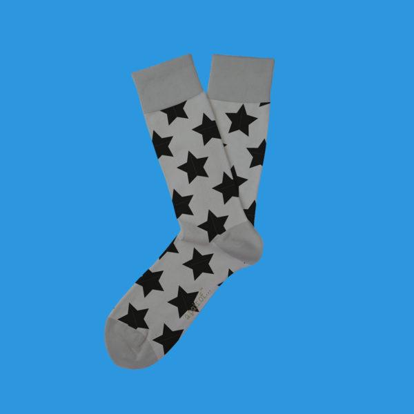 Grå strumpor med stjärnor!