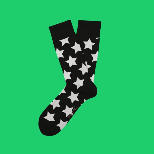 Svarta strumpor med stjärnor!