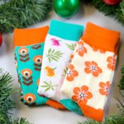 Blommiga strumpor - gift set
