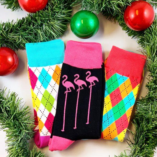 Rainbow och Flamingo strumpor
