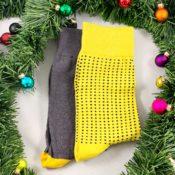 Strumpor med gula detaljer, Cool Socks