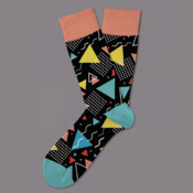 black-modern-art-sock-coolsocks