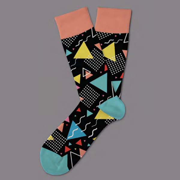 black-modern-art-sock-coolsocks