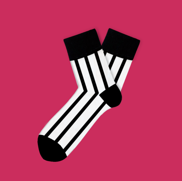 cool socks zebra feelings sock